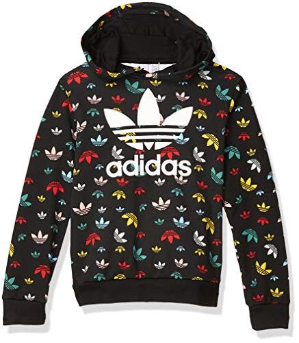 adidas Originals Kids Unisex Culture Clash Crop Hoodie Black/Multicolor/White Large