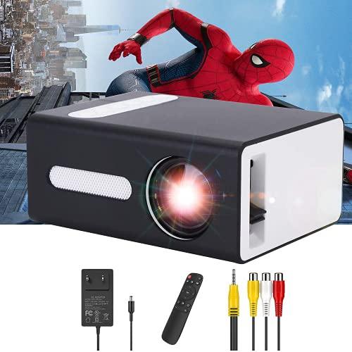 Pro Projektor, PADZUO tragbarer Mini-Projektor für Mobile Geräte, kompatibel mit USB-Kopfhöreranschluss, HDMI, TF, AV, 3,5 mm, Geschenk für Kinder