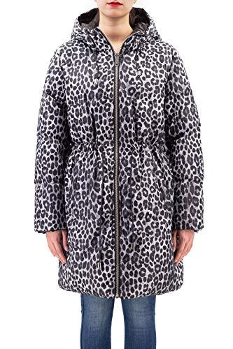 Michael Kors Jacke schwarz Reversible mit Leopardo Aufdruck, Grau Large