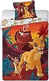 Juego de funda de edredón y fundas de almohada, diseño de El Rey León Disney