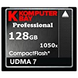KOMPUTERBAY 128GB Professional COMPACT FLASH CARD CF 1050X WRITE 100MB/S READ 160MB/S Extreme Speed UDMA 7 RAW 128 GB [並行輸入品]