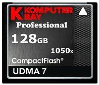 KOMPUTERBAY 128GB Professional COMPACT FLASH CARD CF 1050X WRITE 100MB/S READ 160MB/S Extreme Speed UDMA 7 RAW 128 GB [並行輸入品]