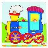 Goki- Puzzles de maderaPuzzles de maderaGOKIEncaje Locomotora, Multicolor (Gollnest & Kiesel...
