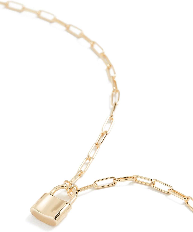gorjana Women's Kara Padlock Charm Necklace