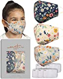 Childrens Floral Solution Mask 3 Pieces by VIRTUE CODE Fabric Face Masks