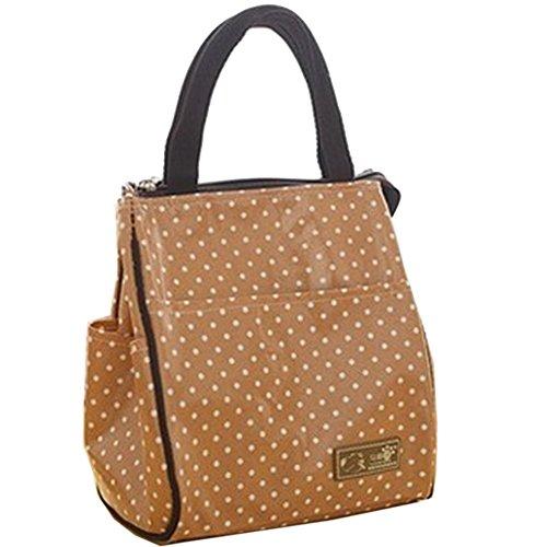 Sac rond sac adorable sac de déjeuner Sac isolé bento (kaki) #01