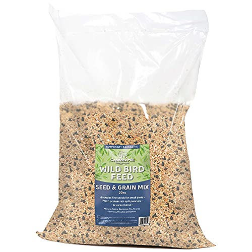 Copdock Mill Wild Bird Seed and Grain Mix 20kg Bag – All Year-Round High-Energy Wild Bird Food – 100 percent Natural Ingredients