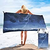 Gebrb Toalla de baño de Microfibra,Toallas de Gimnasio,Ocean Storm Microfiber Fast Drying Towels Suitable for Camping, Backpacking,Gym, Beach, Swimming,Yoga