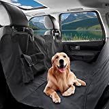 Cubierta de Asiento para Perros NuoYo Negro Cómodo/ Universal Cubierta de Asiento Impermeable para el coche Anti-rayones (135*145cm) Automóvil/SUV/Camión