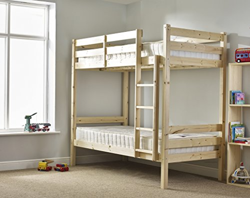 Strictly Beds and Bunks - Short Bunk Bed with Sprung Mattresses, 2ft 6 x 5ft 9 Single