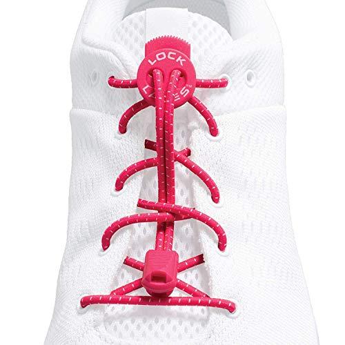[Lock Laces] ロックレース - 靴紐 結ばない ゴム紐 シューレース (ピンク)