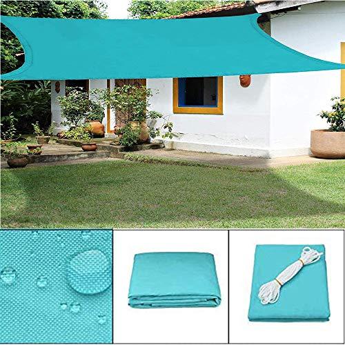 ZHENN Toldo Vela de Sombra Rectangular Shack Toldo Vela Azul protección 95% UV y Transpirable Impermeable para Jardín Patio Exteriores Pergola Decking