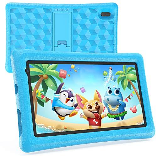 Tablet Bambini BENEVE 7 Pollici Android 10.0 Tablet Quad Core 2GB RAM 16GB ROM WiFi Bluetooth Istruzione Giochi Software Bambini Preinstallato Con Custodia Tablets Bambini Controllo Genitori (Blu)