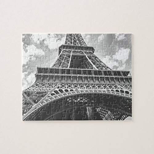 CICIDI Eiffel Tower, Paris, France in Black and White Jigsaw Puzzle 1000 Pieces for Adult Entertainment DIY Toys , Graet Gift Home Decor