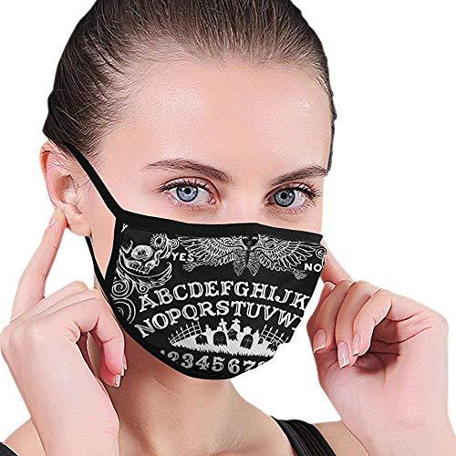 Mond Maskers Witch Board Zwarte Gotische Goth Occult Hekserij Winkelen Printing School Elastische Earloop Kleurrijke Park Herbruikbaar Volwassen Comfortabel Mooi