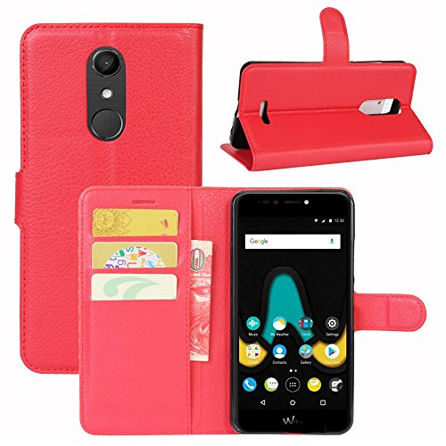 Lapinette Hülle Tasche Brieftasche Schutzhülle Protector für Alcatel A3 XL - Rot