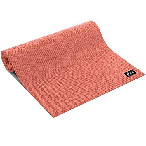 "Aeromat Elite Yoga/Pilates Mat 6mm (1/4"") Thick, phthalates-Free PVC (Coral)"