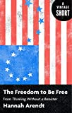 The Freedom to Be Free: From Thinking Without a Banister (A Vintage Short) (English Edition)