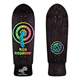 Santa Cruz Skateboard Deck Roskopp Rob Target 1-10 Inch Matte Finish-Negro Sta (Default, Negro)