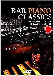 Bar Piano Classics EH3749 9783866261297 - 20morceaux connus- Niveau facile à moyen - Livre de partitions par Michael Gundlach avec CD et pince à partitions colorée [français non garanti]