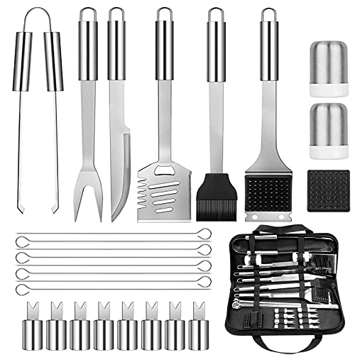 Premium BBQ Grill Tools Set, 26PCS Stainless Steel Barbecue Utensil...