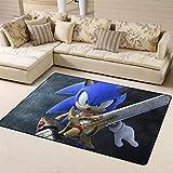 Zmacdk Sonic Force - Alfombra cuadrada para el aula, regalo para niños, sala de juegos, dormitorio, 6 x 7 pies (180 x 210 cm), Sonic Tails (personaje) nudillos