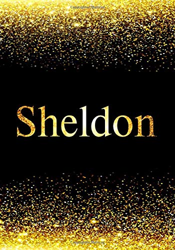 Sheldon Notebook: Personalized Journal to Write In Notebook - Printed Glitter Black and Gold , Notebook Journal - 110 pages, 7x10 inch. Christmas gift , birthday gift idea