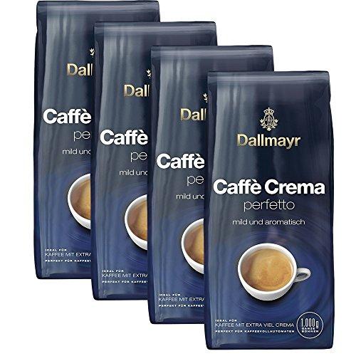 Dallmayr Caffè Crema perfetto Ganze Bohnen, 1000g 4er Pack