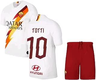 Totti #10 2019-2020 AS Roma Men's Away Soccer Jersey/Short Colour White