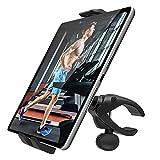 MoKo Handy Halterung, 360° Drehbar Ständer für 4-11' Handy & Tablet Einstellbar Halter für Fahrrad Laufband Fitnessstudio, Handyhalter Kompatibel mit iPhone/iPad Pro/Air 3/Mini 5/Tab S6 - Schwarz