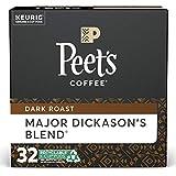 Peet's Coffee Major Dickason's Blend K-Cup Coffee Pods for Keurig Brewers, Dark Roast, 32 Pods