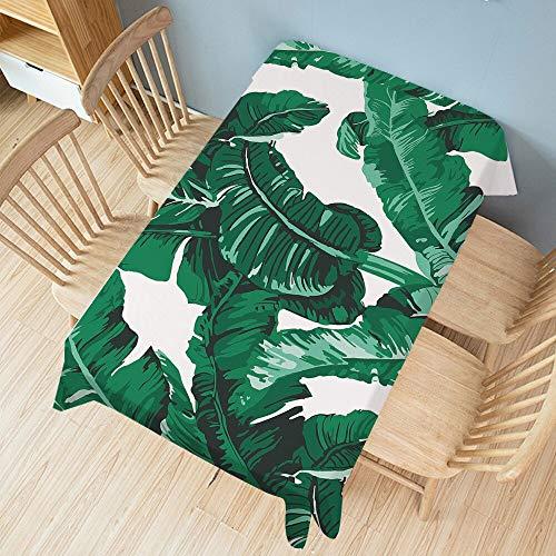 XXDD Mantel de Planta Verde Rectangular Cubierta de Mesa de Comedor de Fiesta Alfombra Ropa Impermeable decoración del hogar A2 135x180cm