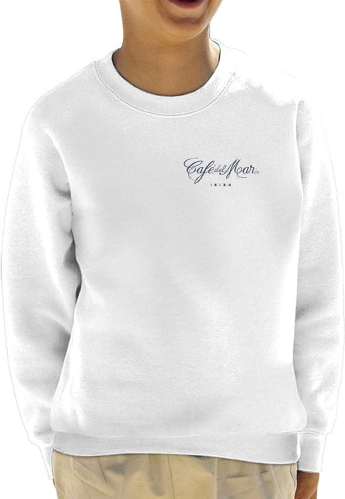 Café del Mar Classic Blue Logo Pocket Print Kid's Sweatshirt