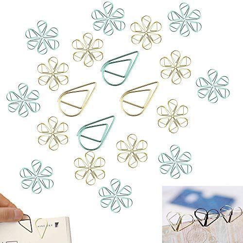 Clips de papel pequeños, de Clip de Papel de Multicolor para Materiales de Escuela Oficina, Tipo de gota de metal, 16 * 25mm, 100 unidade