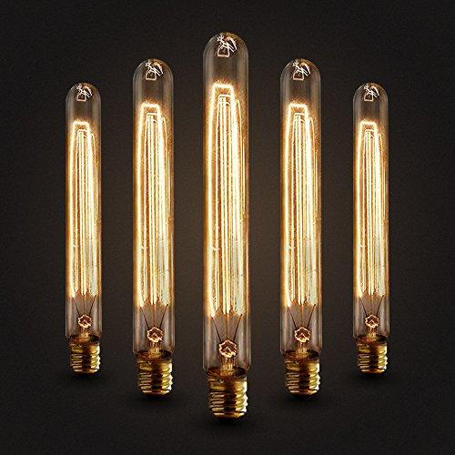 Preisvergleich Produktbild GreenSun LED Lighting E27 40W 50V-220V T225 Edison Lampe Filament Glühlampe Retro Licht Vintage Glühbirne Antik Beleuchtung Warmweiß,  5 × Neverland,  21.5cm