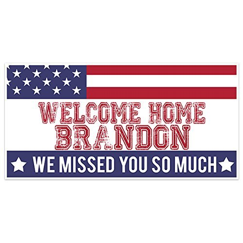 Welcome Home Flag Military Banner Party Backdrop