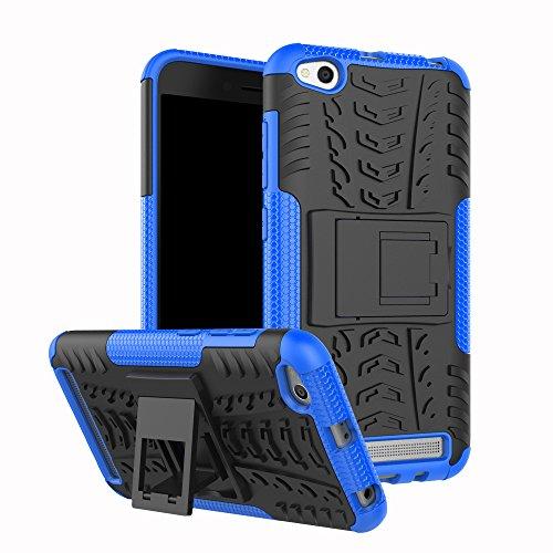 XINYUNEW Funda Xiaomi Redmi Note 5A, 360 Grados Protective+Pantalla de Vidrio Templado Caso Carcasa Case Cover Skin móviles telefonía Carcasas Fundas para Xiaomi Redmi Note 5A-Azul