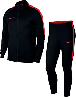 Dry Training Academy Men's Tracksuit (XL, Black/Light Crimson)