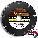 GRAFF Termit Disco da Taglio per Smerigliatrice Angolare 115mm / 125mm, Taglio Sottile di ...