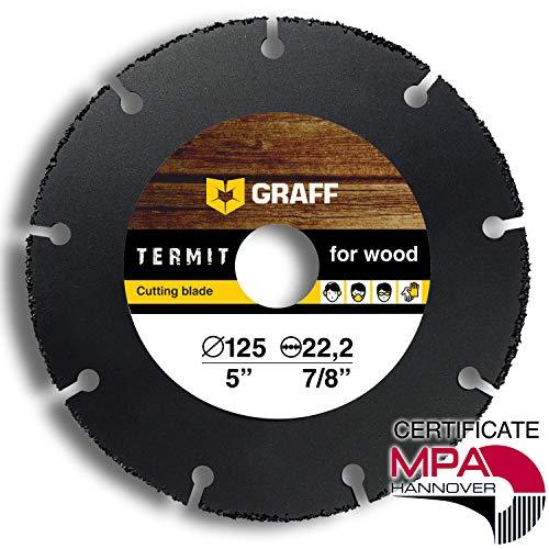 Flexscheibe für Holz GRAFF Termit 125mm / 115mm, Winkelschleifer Holz Trennscheibe (wood carving disc) für Holz Schnitzen und Schneiden, Speedcutter (125 mm)