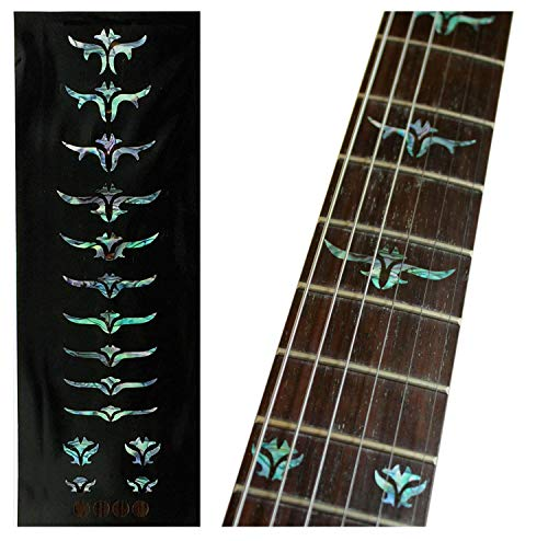 Fretboard Markers Inlay Stickers Decals for Guitars & Bass - Tailored Leaves - Abalone Mix