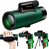 Monocular Telescope with Smartphone Holder, Tripod and Hand Strap, Yarrashop 12X42 High Power Monoculars for Adults Kids, Best Gift for Bird Watching Hunting Camping Travelling Secenery (Monocular)