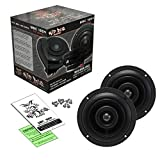 Wild Boar Audio WBC 1654 6.5' 4 Ohm Front Speakers with Grills for 2014+ Harley-Davidson FLH Touring Models WBC 1654