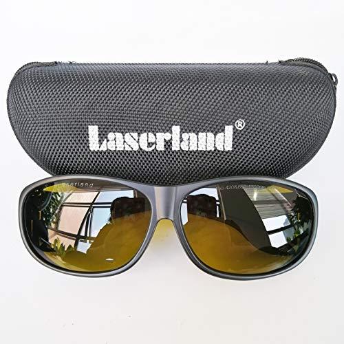 Laserland Gafas de protección láser T5, 1064 nm, 190-420 nm, 850-1300 nm, VLT28{77fa5d80add76eb59d3676e6bbb50167607ab4a75741a986b42954cdf2c34c5e}, corte de 1070 nm, 1080 nm, 1100 nm OD4+OD6+ fibra laser YAG