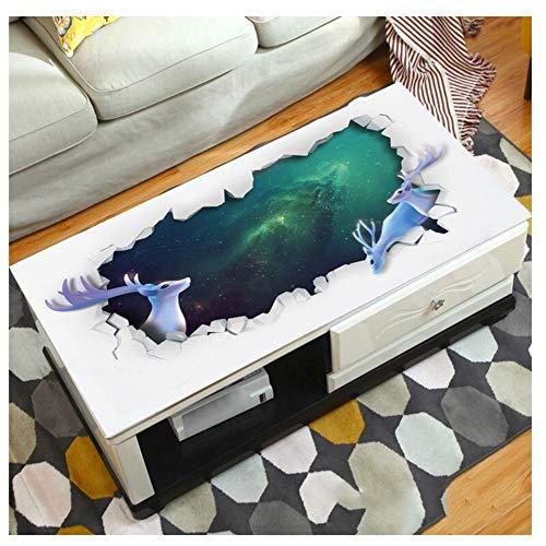 MAI&BAO Nappe Table Protection PVC 1.5mm Lavable Imperméable Anti Tache l'huile Modèle Dessin animé 3D Toile cirée Kitchen Picnic intérieur extérieur Home Jardin,C,90x160cm(35x63inch)