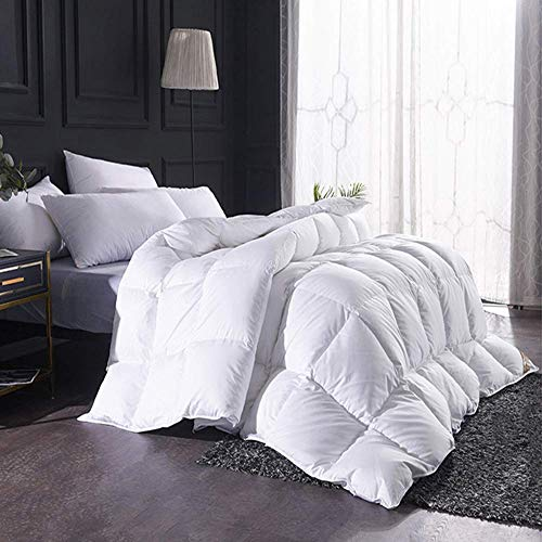 YXZN Down Duvet Double Bed White Goose Feather and Down Duvet with 100% Cotton Down-proof Fabric All Season Double-sided Thick Breathable Winter Warm Quilt