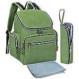 Universal-Wickeltasche, modische Mumien-Tasche, multifunktional, für Mutter und Kinder, wasserdicht, für Schwangere und Frauen, Grün, 20 Liter