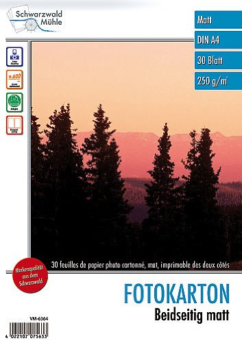 Schwarzwald Mühle Fotopapier DIN A4: 30 Bl. Foto-Karton
