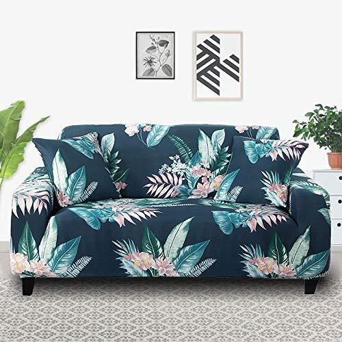 PPOS Fundas de sofá elásticas a Cuadros Funda de sofá para Sala de Estar Funda para sofá Gran felxibilidad Poliéster A12 Loveseat 145-185cm-1pc