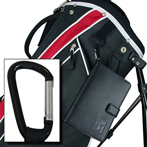 PGA TOUR Score Karte und Zubehörtasche aus echtem Leder , schwarz - 9